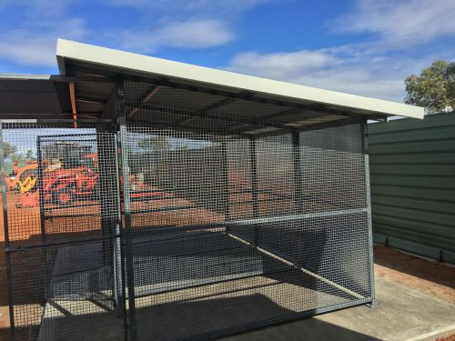 Custom steel cage on a property in the NT